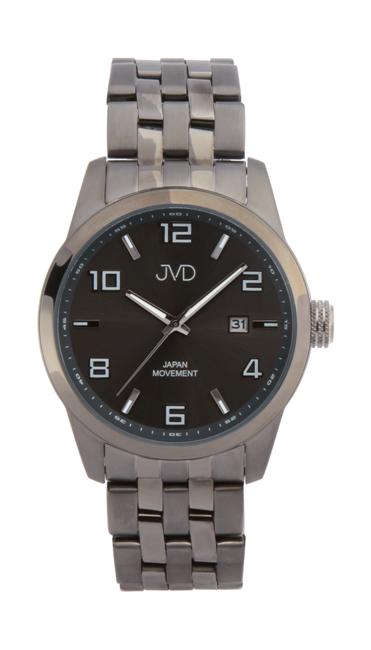25097726682 Pánské ocelové vodotěsné černé hodinky JVD JC644.4 - 10ATM s datumovkou POŠTOVNÉ  ZDARMA!