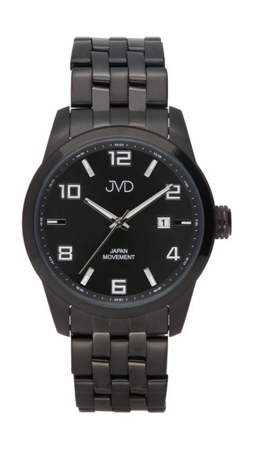 Pánské ocelové vodotěsné černé hodinky JVD JC644.6 - 10ATM s datumovkou c7528b3069