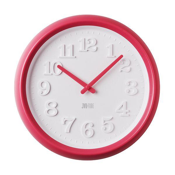 Červené dětské nástěnné hodiny JVD TIME H101.1