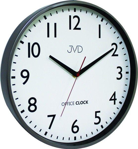 Kovové hodiny JVD TS20.1 (černé hodiny Office Clock)