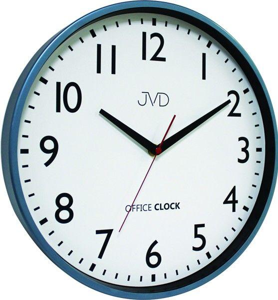 Kovové hodiny JVD TS20.2 (modré hodiny Office Clock)