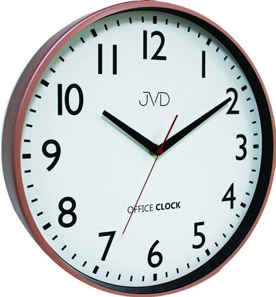 Kovové hodiny JVD TS20.3 (cihlově červené hodiny Office Clock)