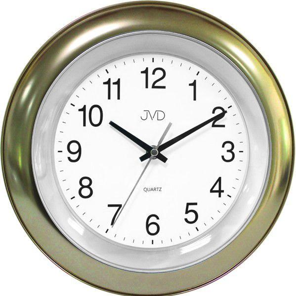 Zlaté nástěnné hodiny JVD TS13.3 (Zlaté lesklé designové hodiny)
