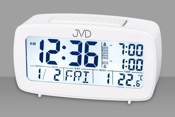 Digitální budík JVD SB82.1 (bílý - vícefunkční digitální budík)