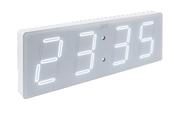 Velké svítící digitální moderní hodiny JVD DH1.4 (bílé LED číslice)