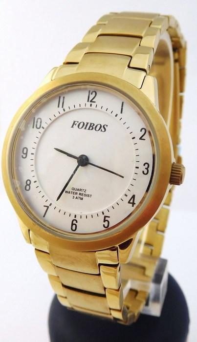 Dámské antialergické titanové zlacené hodinky Foibos 24522 (POŠTOVNÉ ZDARMA!!!)