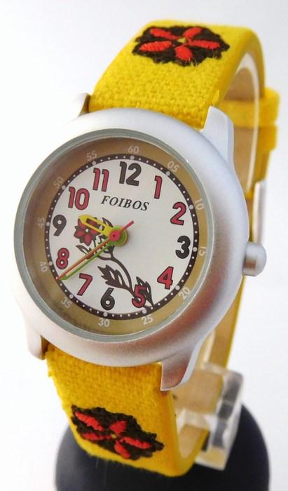 Dětské dívčí žluté hodinky Foibos 1055.2 pro malé děvčata