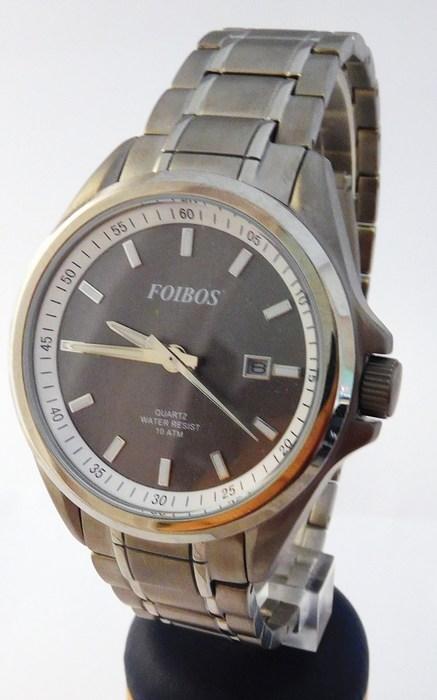 Pánské celotitanové antialergické vodotěsné hodinky Foibos 25502 (odlehčené hodinky)