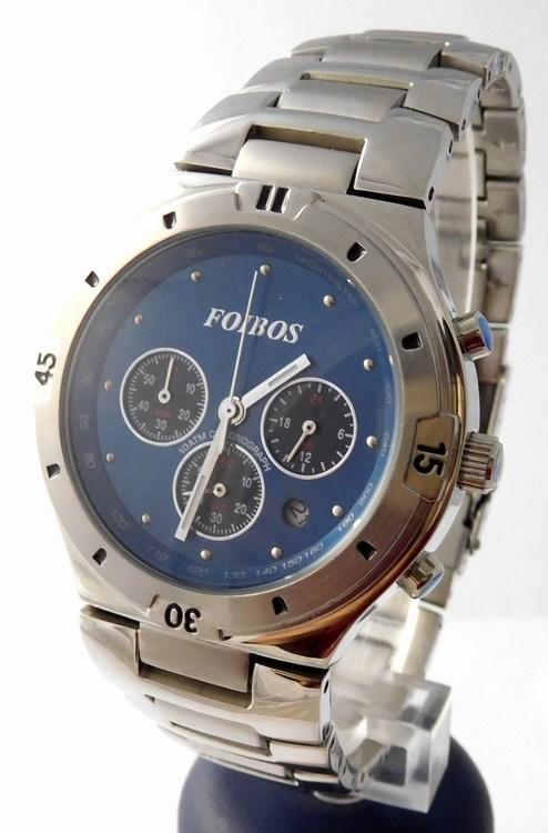 Mohutné pánské vodotěsné hodinky chronograph Foibos 10284.2 POŠTOVNÉ ZDARMA!! (POŠTOVNÉ ZDARMA!!!!)