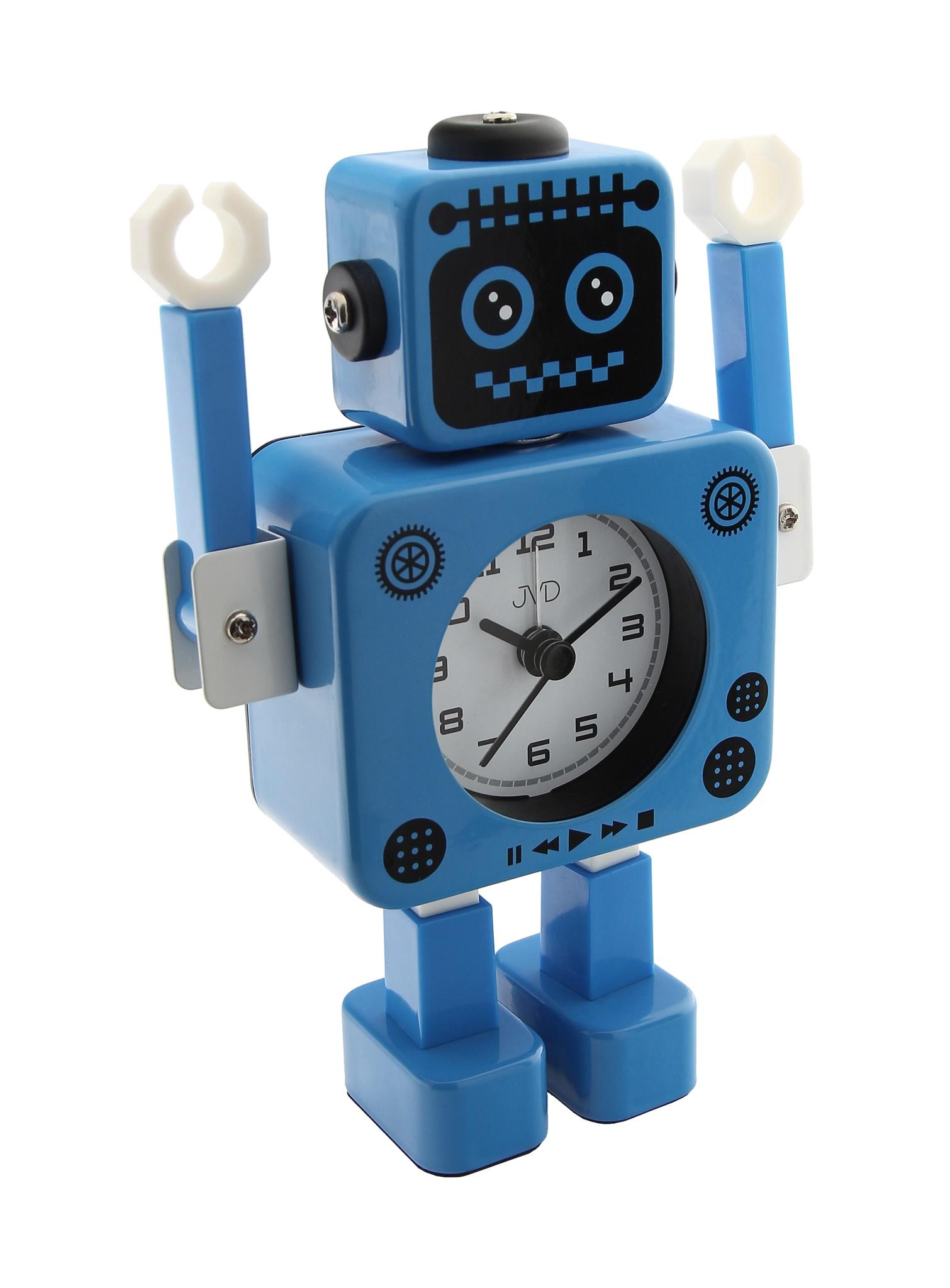 Dětský budík JVD ROBOT SRP2312.2 (modrý)