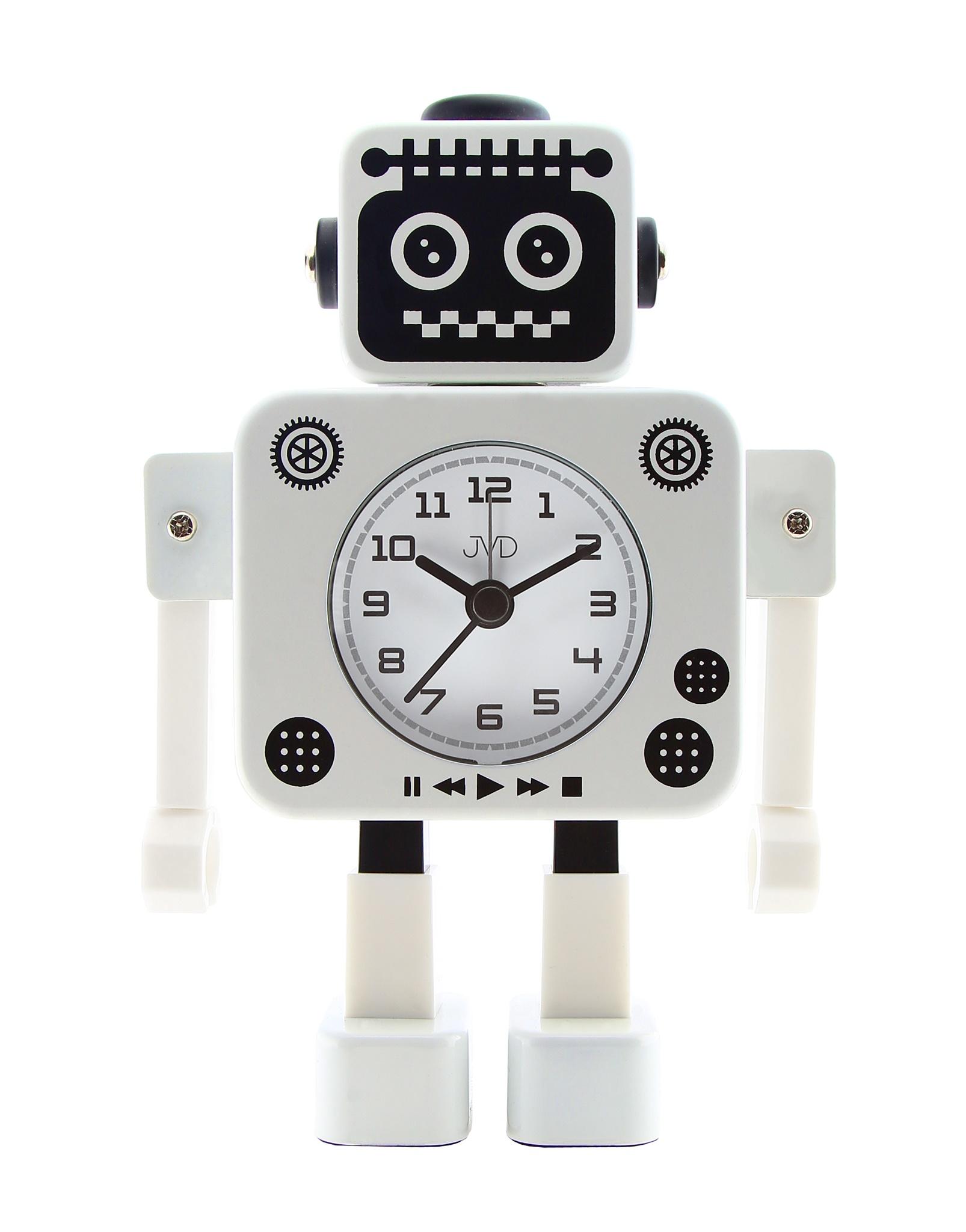 Dětský budík JVD ROBOT SRP2312.3 (bílý)