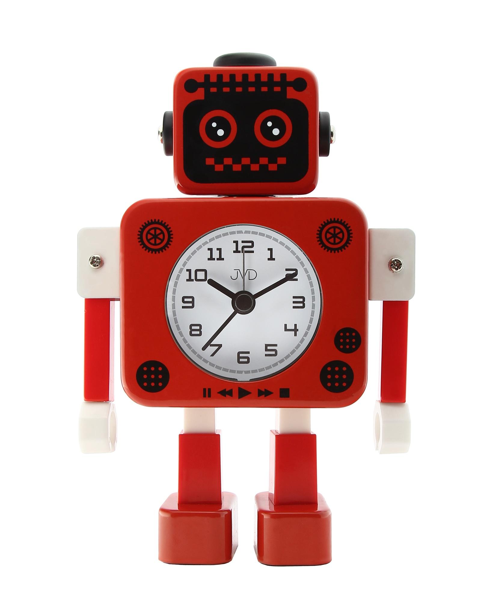 Dětský budík JVD ROBOT SRP2312.4 (červený)