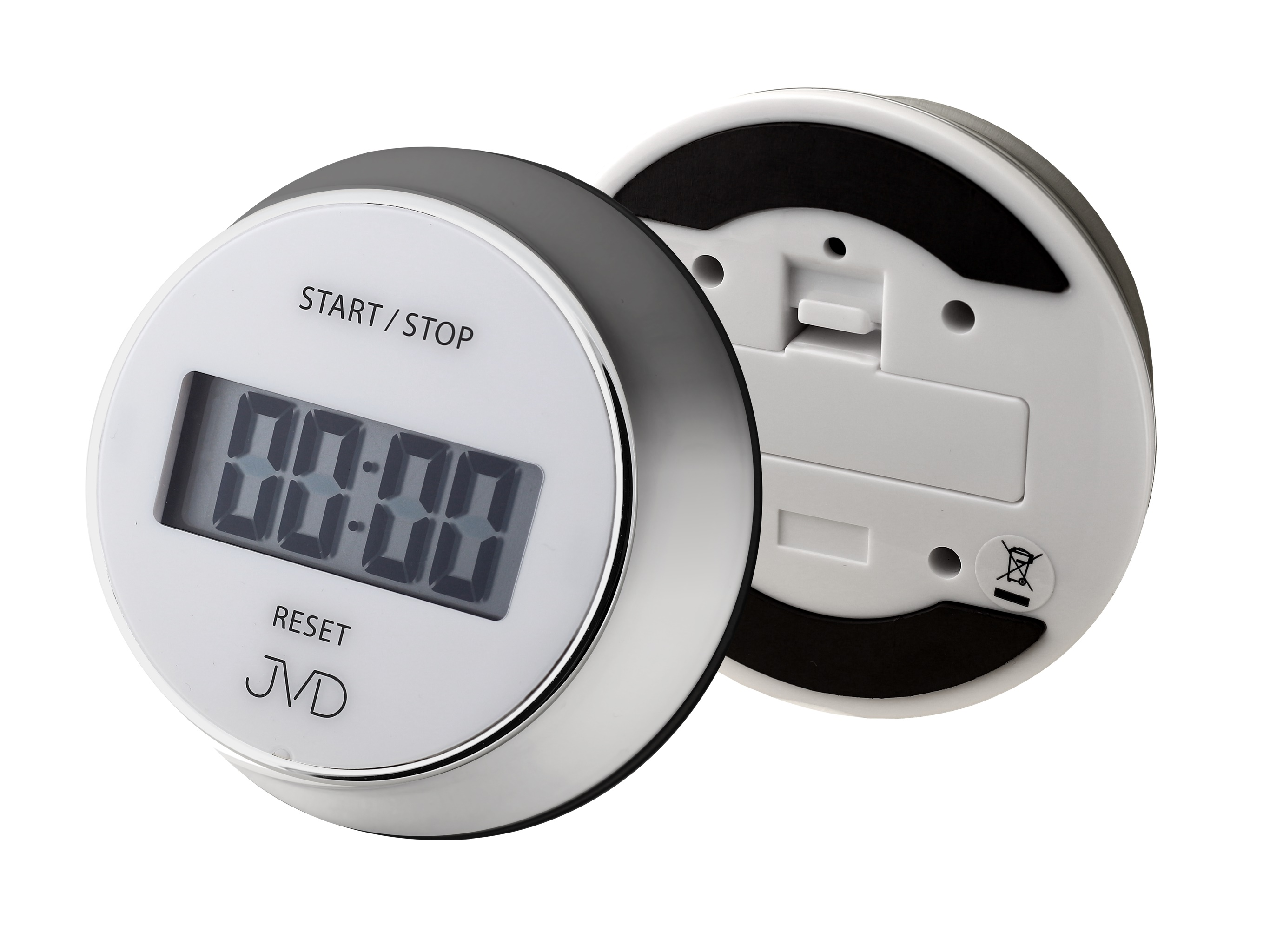 Luxusní bílo - stříbrná digitální minutka JVD DM40.1