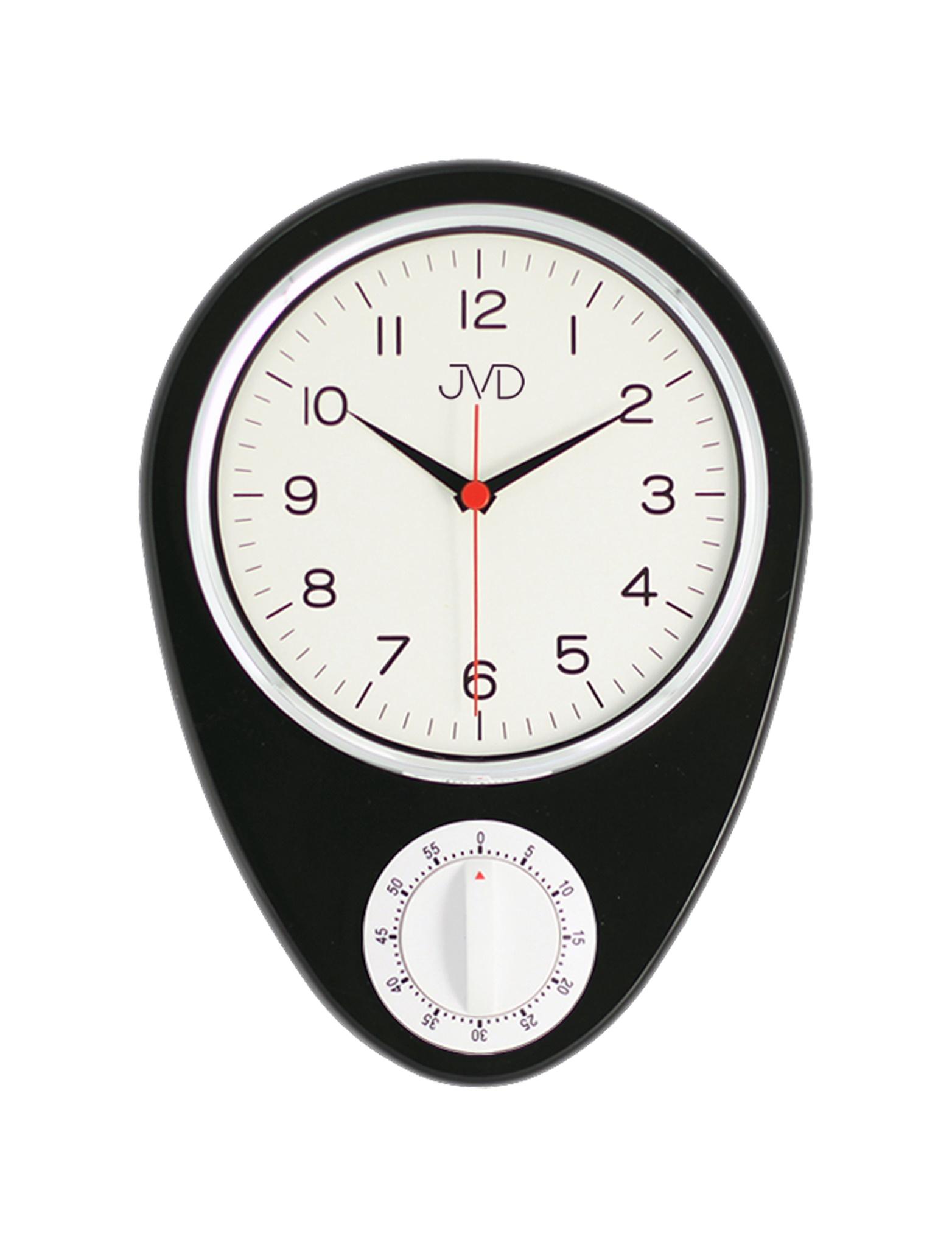 """Klasické """"retro"""" hodiny s mechanickou minutkou JVD HO365.3 (černé)"""