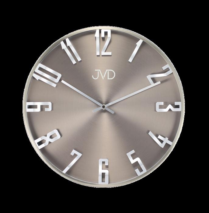 Kovové 3D designové nástěnné hodiny JVD HO171.1