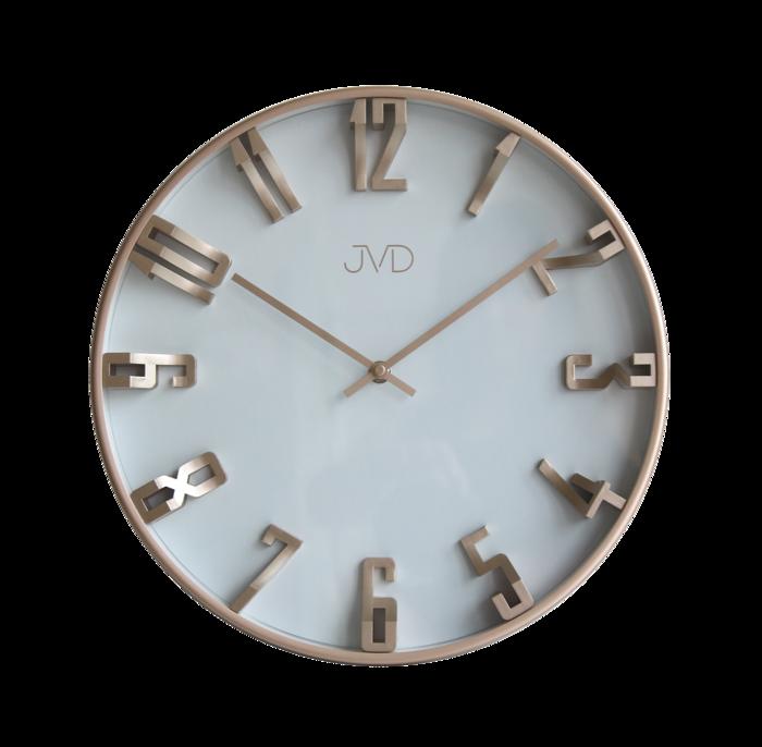 Kovové 3D designové nástěnné hodiny JVD HO171.3 - šampaň (POŠTOVNÉ ZDARMA!!)