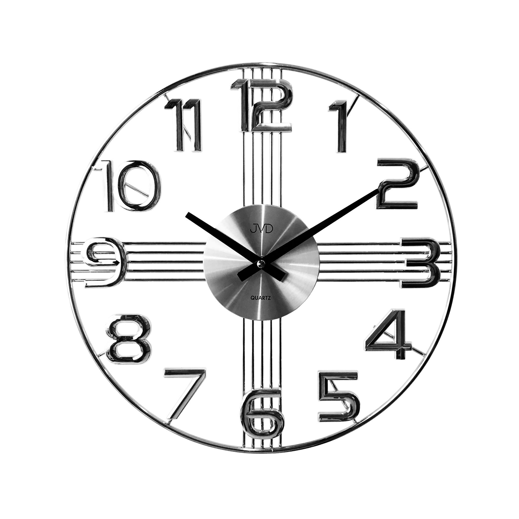 Designové kovové luxusní nástěnné hodiny JVD HT051.1 do moderního bytu (POŠTOVNÉ ZDARMA!!)