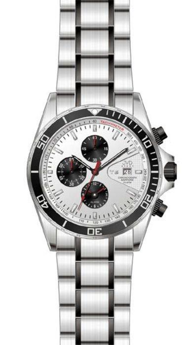 Pánské hodinky JVD steel J1014.1 (Vodotěsné potápěčeské hodinky - 20ATM)