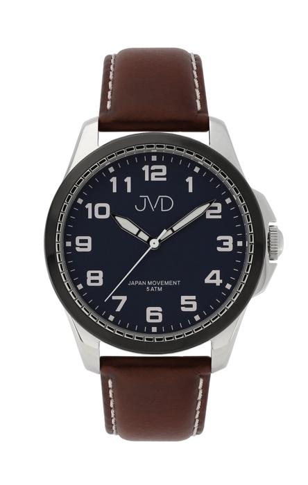 Pánské luxusní náramkové hodinky JVD J1110.2 na koženém pásku (POŠTOVNÉ ZDARMA!!)