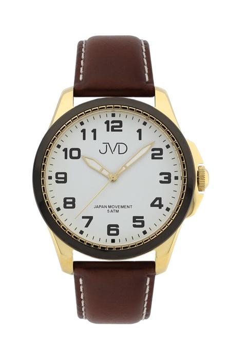 Pánské luxusní náramkové hodinky JVD J1110.4 na koženém pásku (POŠTOVNÉ ZDARMA!!)