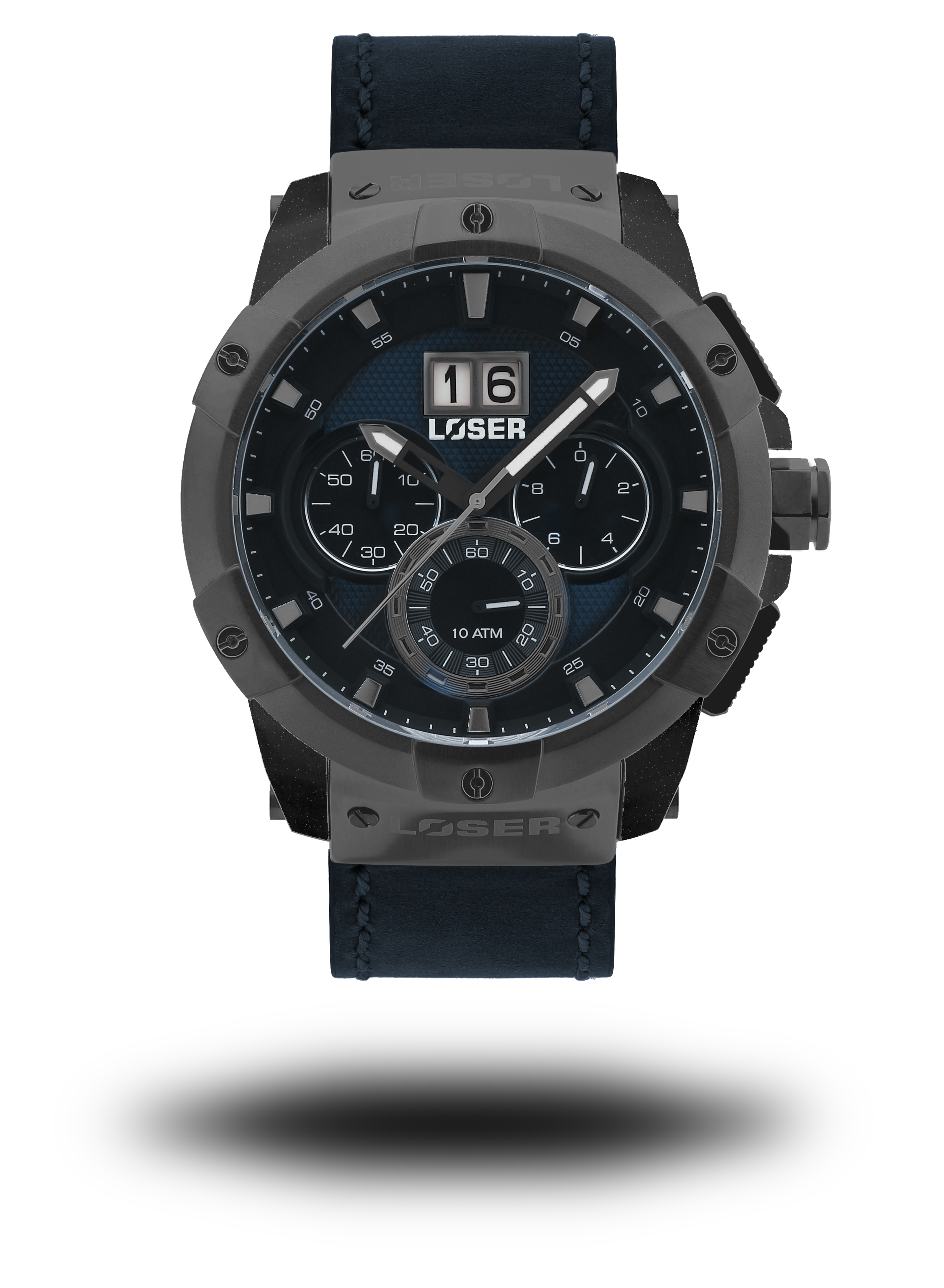 Luxusní nadčasové sportovní vodotěsné mohutné hodinky LOSER Vision DEEP BLUE (POŠTOVNÉ ZDARMA!! - modré)