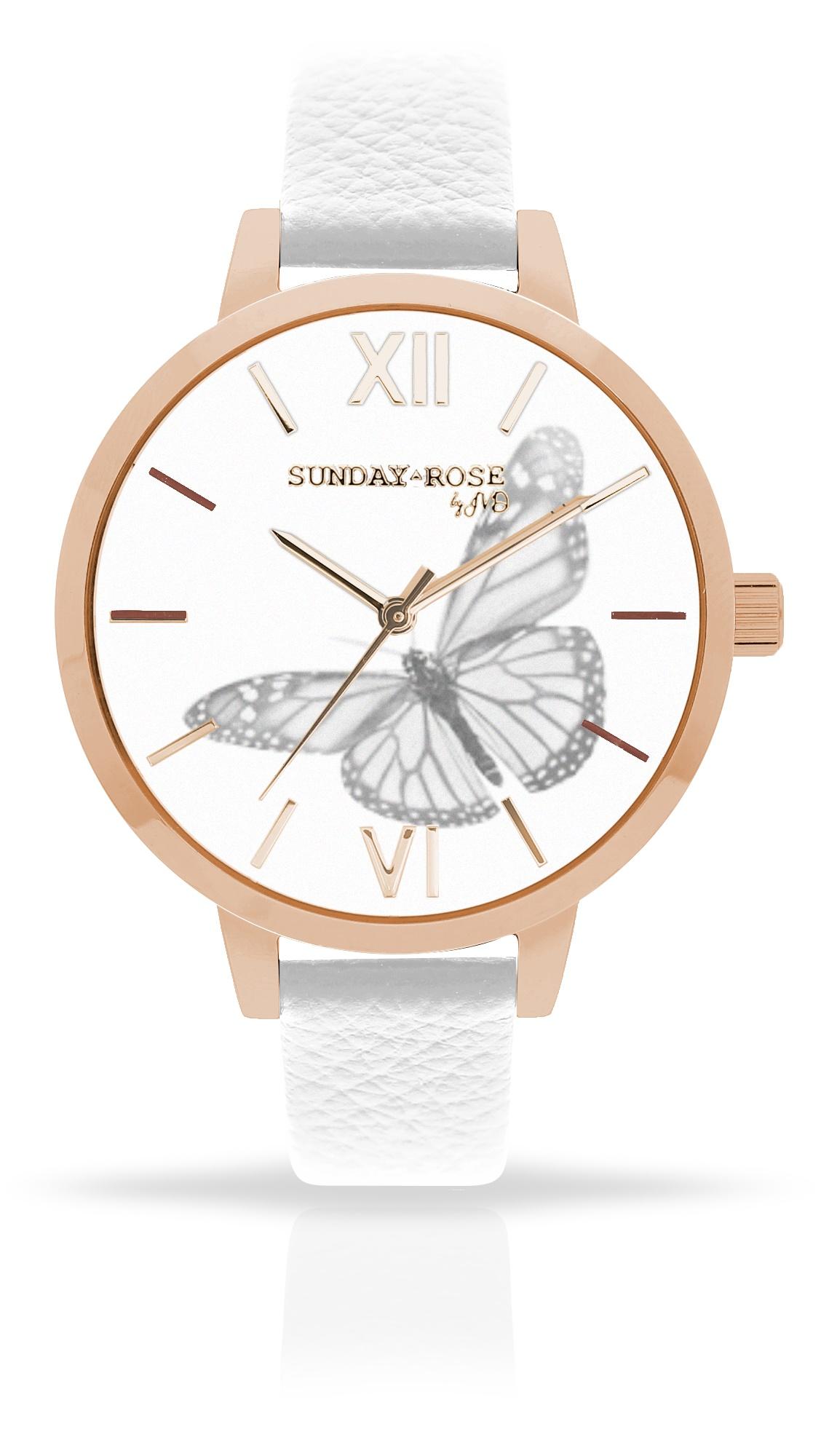 Dámské luxusní designové hodinky SUNDAY ROSE Alive BUTTERFLY SENSE (POŠTOVNÉ ZDARMA!!)
