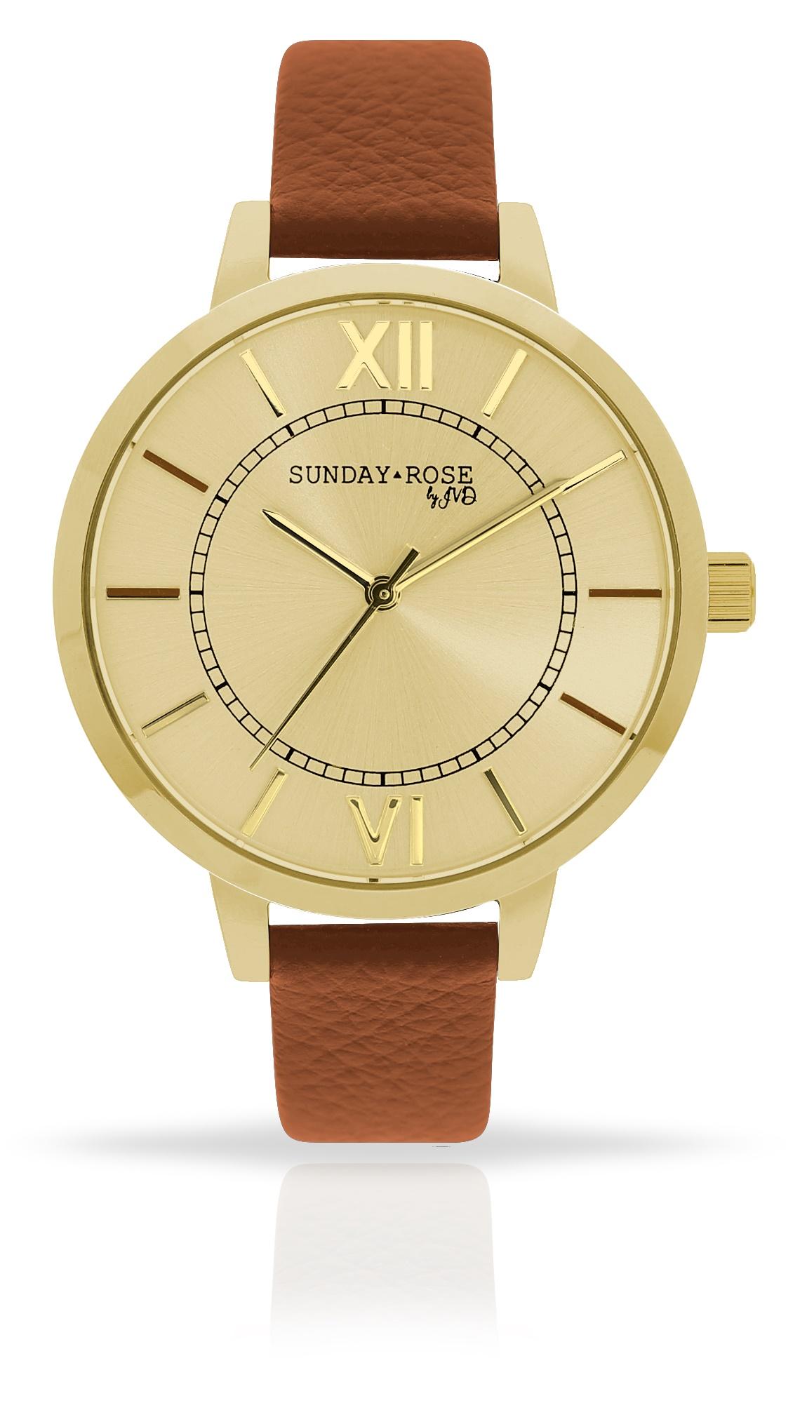 Dámské luxusní designové hodinky SUNDAY ROSE Classic GOLDEN BROWN (POŠTOVNÉ ZDARMA!!)