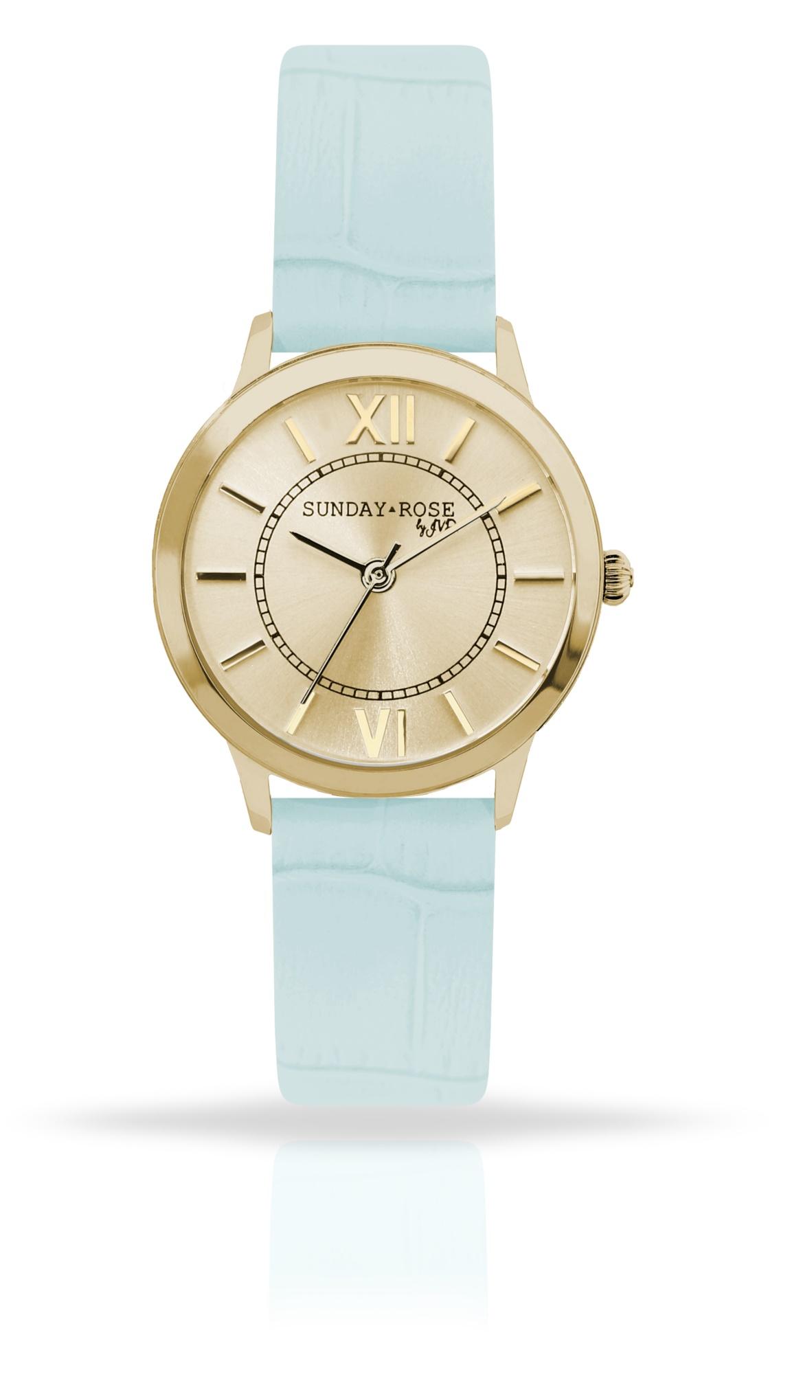 Dámské luxusní designové hodinky SUNDAY ROSE Darling MINT GREEN (POŠTOVNÉ ZDARMA!! - modré)