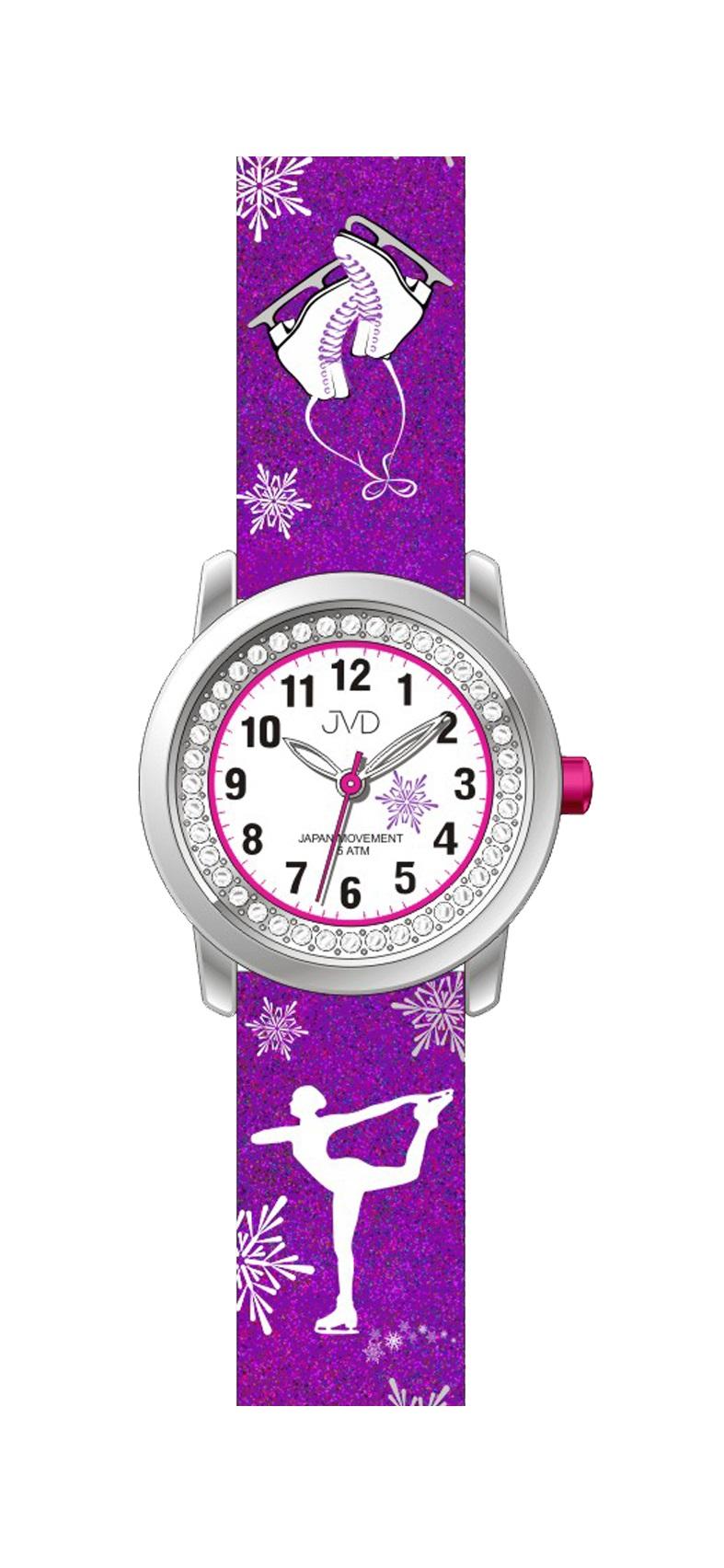 Dětské náramkové dívčí hodinky JVD J7170.1 - krasobruslařka (POŠTOVNÉ ZDARMA!!!)