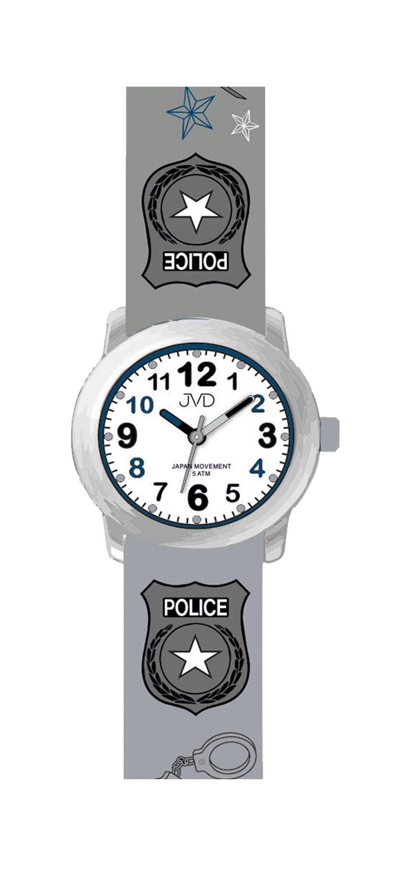 f3848bc6fe7 Dětské náramkové chlapecké hodinky JVD J7173.2 pro malého policistu