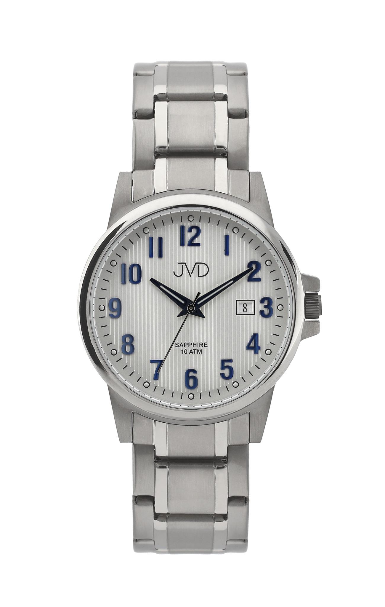 Pánské titanové antialergické vodotěsné hodinky JVD J2021.1 se safírovým  sklem 206e7a28493