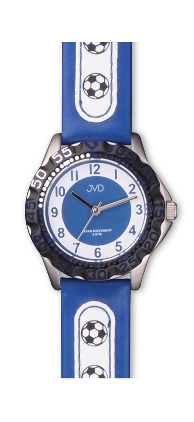 Chlapecké sportovní dětské hodinky JVD basic J7078.1 - fotbalista (pro malé fotbalisty - modré)