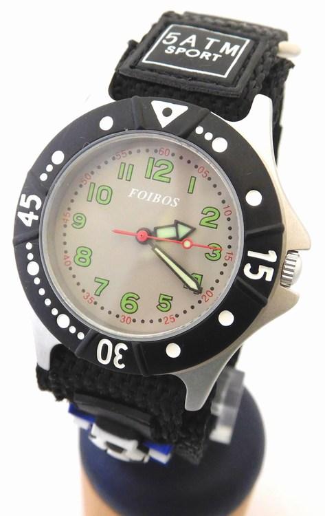 Chlapecké sportovní dětské hodinky Foibos 2589.3 pro malé fotbalisty - 5ATM (zapínání na suchý zip)