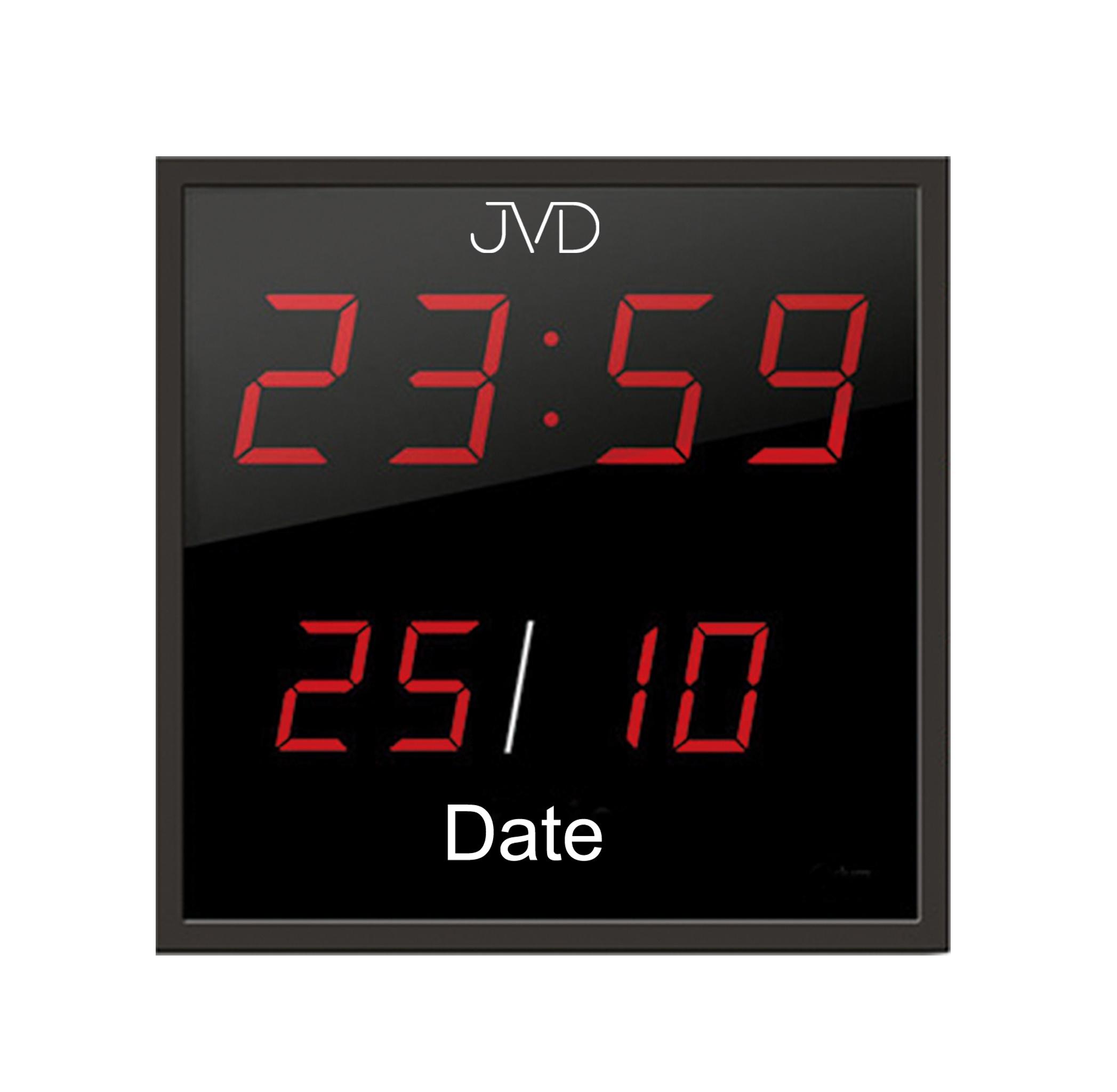 Velké svítící digitalní nástěnné hodiny JVD DH41 s červenými číslicemi (POŠTOVNÉ ZDARMA)