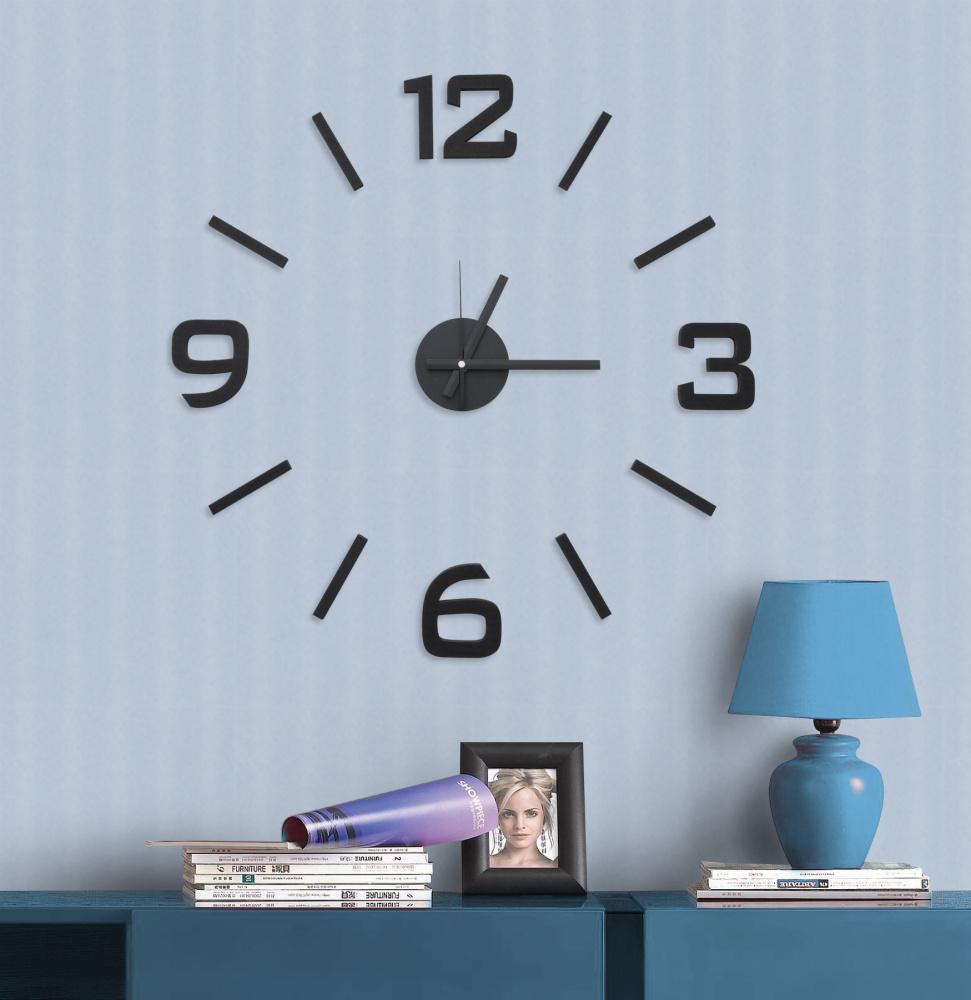 Nalepovací černé levné samolepící hodiny G21 Classic Style (HM4-WSC-10E002)