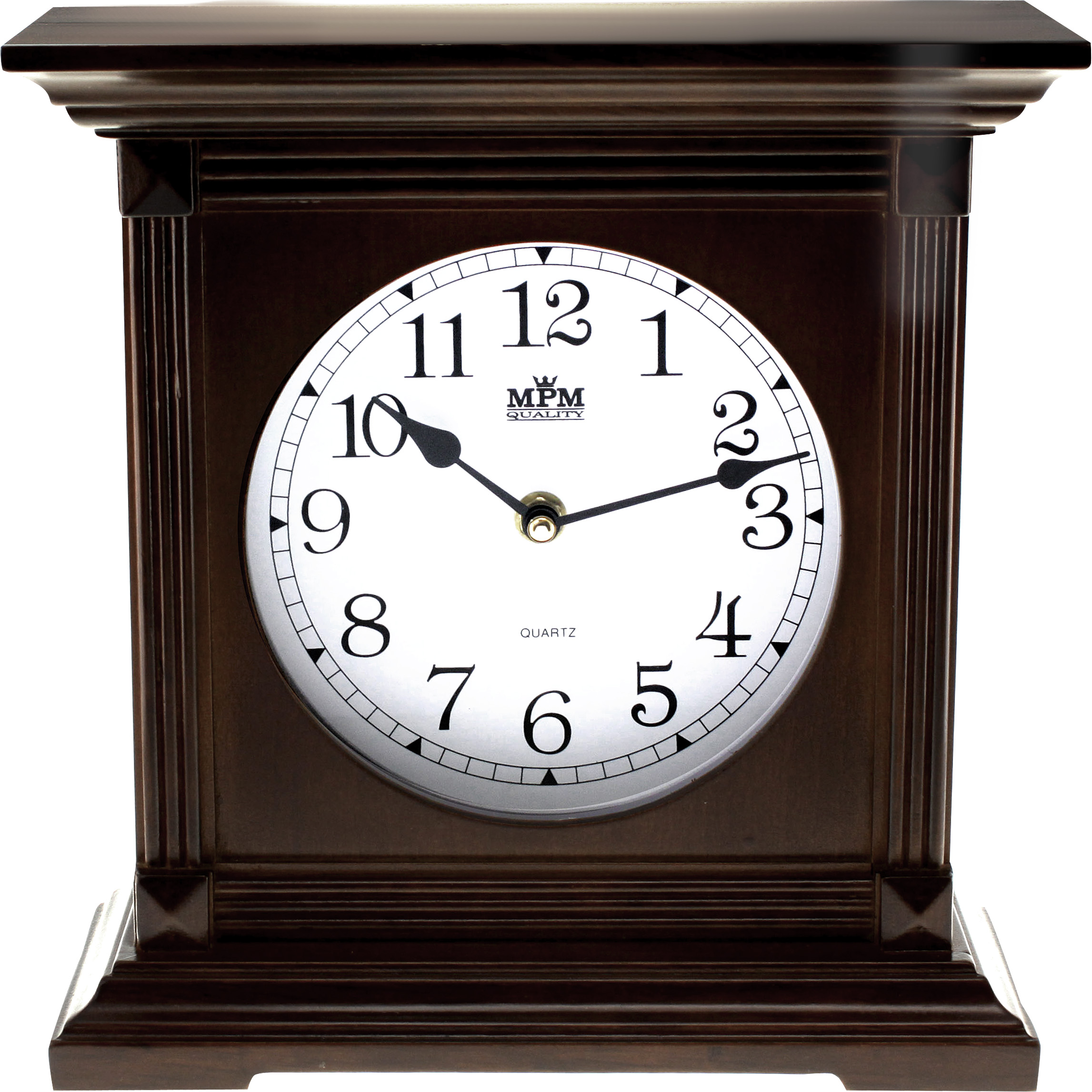 Dřevěné stolní hodiny MPM E03.2705.54 - tmavé dřevo (E03.2705.54 )