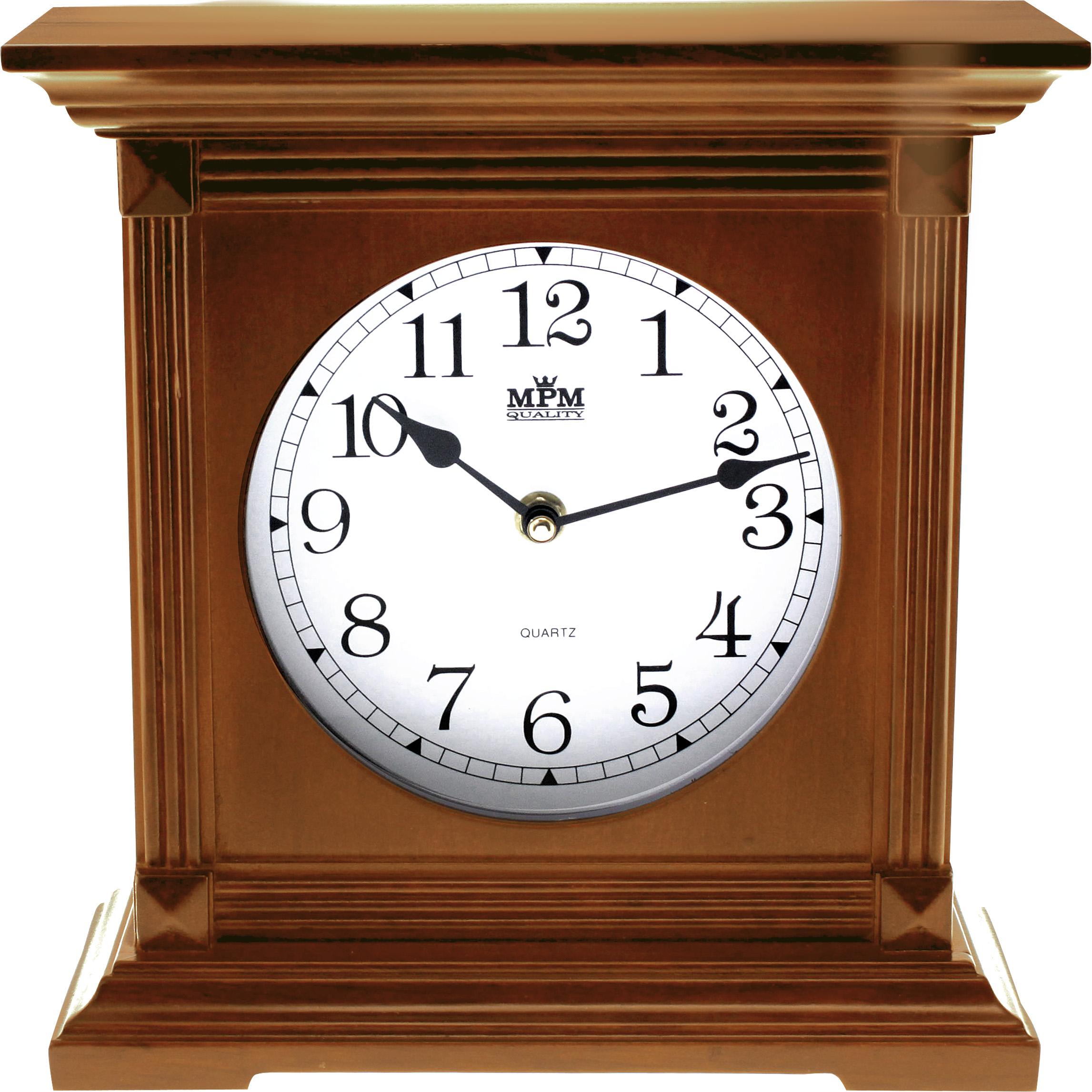 Dřevěné stolní hodiny MPM E03.2705.50 - hnědá (E03.2705.50 - hnědá)
