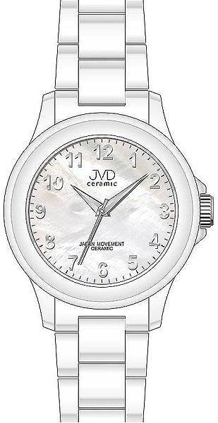 Luxusní keramické dámské náramkové hodinky JVD ceramic J6009.1 (POŠTOVNÉ ZDARMA!! - bílá keramika)