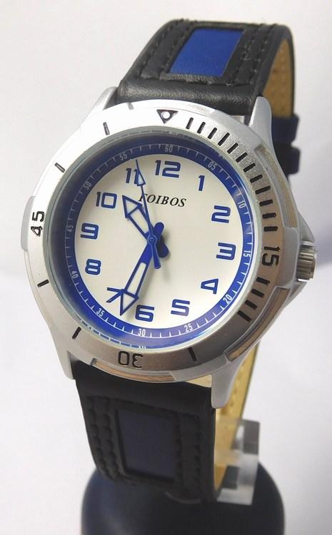 Chlapecké dětské sportovní černomodré moderní hodinky Foibos 2067.5 (chlapecké hodinky)