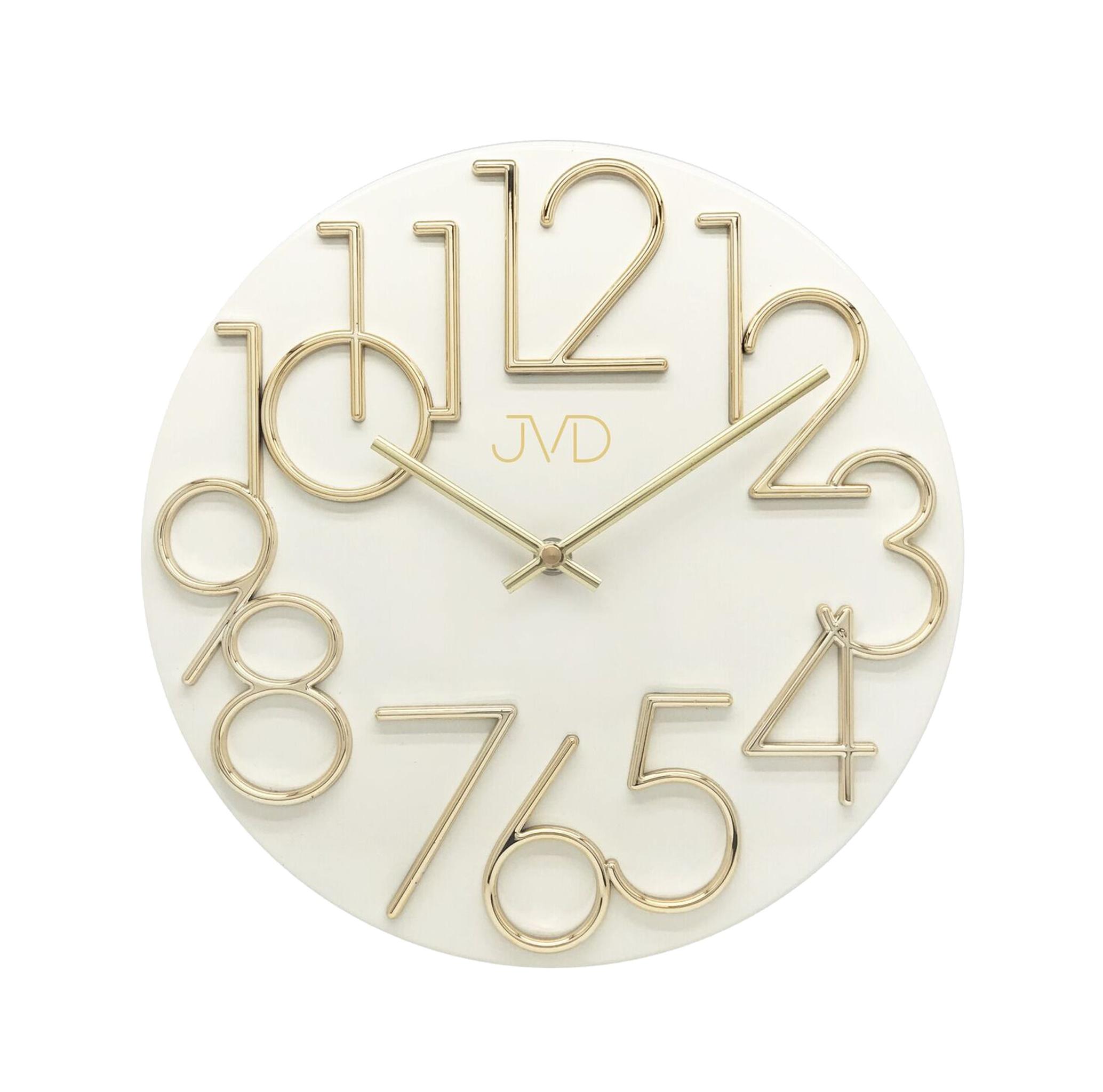 Kovové designové nástěnné bílé hodiny JVD HT23.5 (POŠTOVNÉ ZDARMA!!)