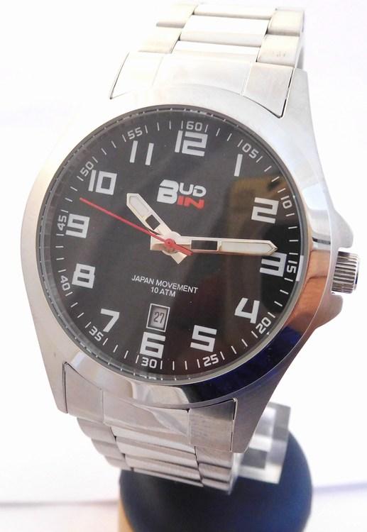 Pánské levné ocelové vodotěsné hodinky Bud-IN steel B1701.2 - 10ATM