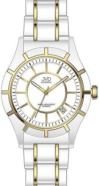 Dámské bílo-zlaté keramické lehké hodinky JVD ceramic J3005.3 (POŠTOVNÉ ZDARMA!!)