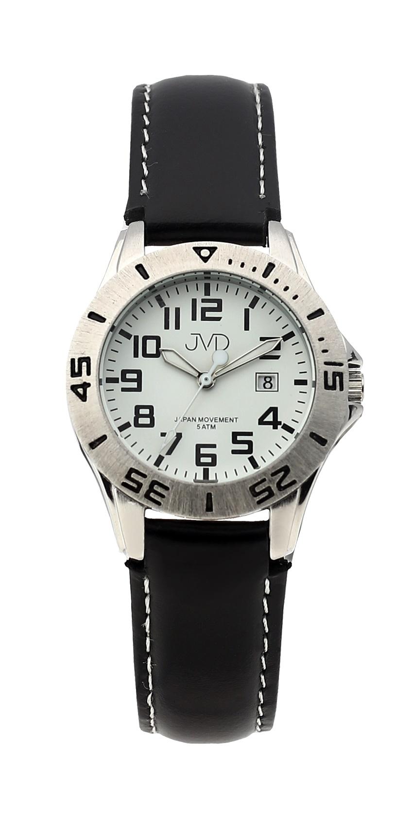 Černé chlapecké vodoodolné dětské náramkové hodinky JVD J7177.2 (5ATM - voděodolnost)