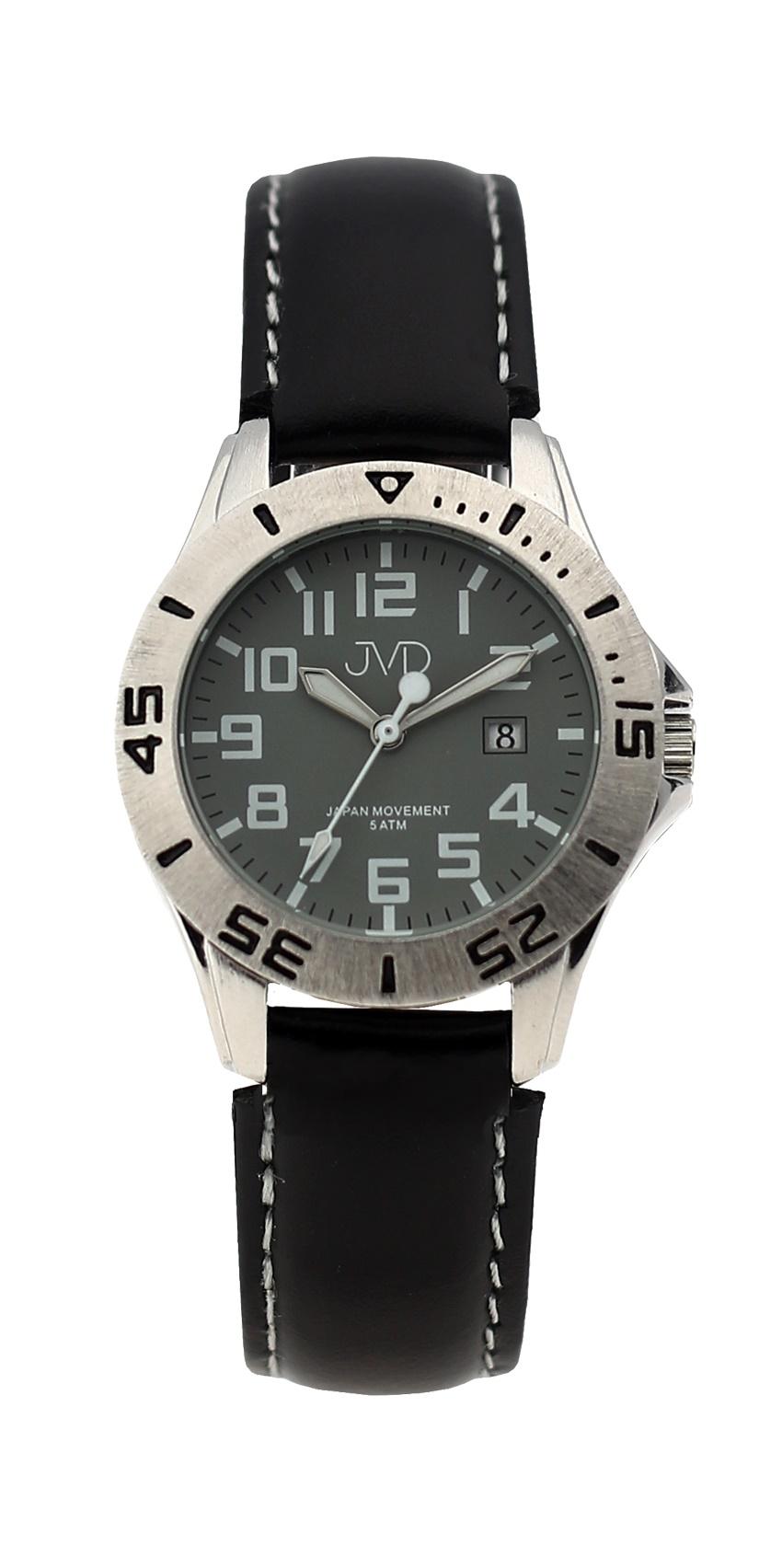 Černé chlapecké vodoodolné dětské náramkové hodinky JVD J7177.4 (5ATM - voděodolnost)