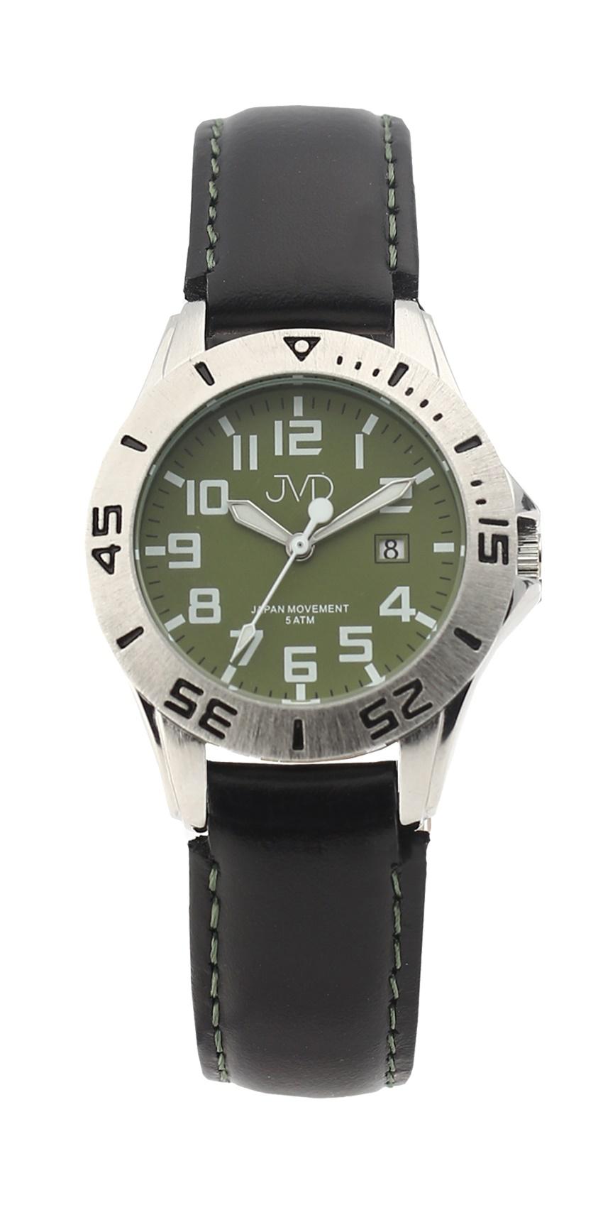 Černé chlapecké vodoodolné dětské náramkové hodinky JVD J7177.5 (5ATM - voděodolnost)