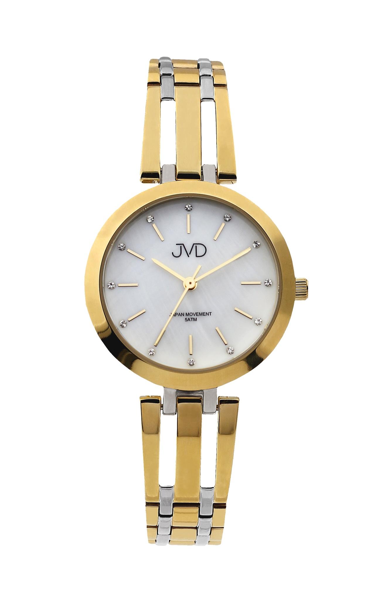 Dámské elegantní ocelové zlacené hodinky JVD J4155.3 (POŠTOVNÉ ZDARMA!! - vodotěsnost 5ATM)