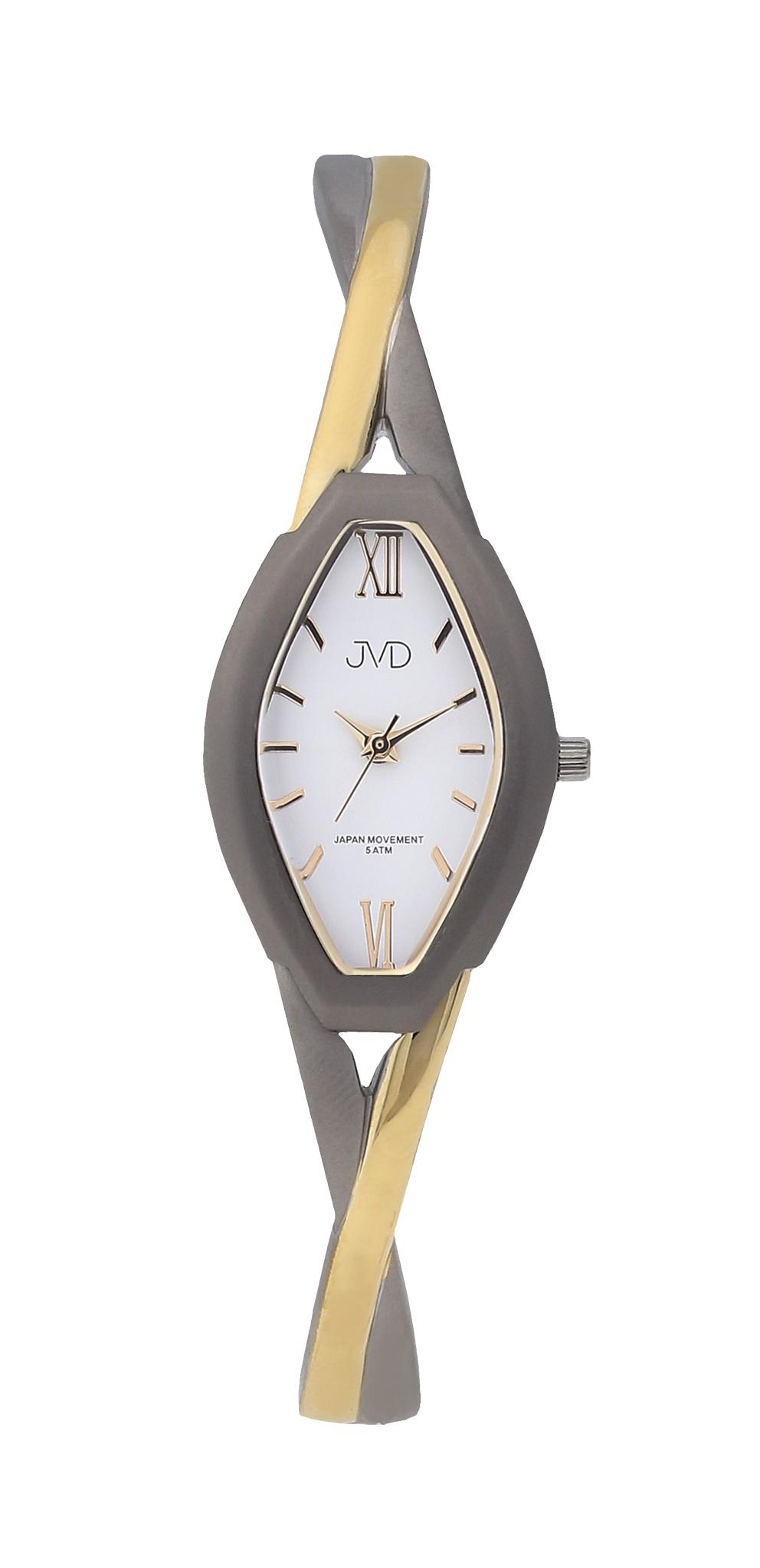 Dámské elegantní antialergické titanové hodinky JVD J5029.2 (POŠTOVNÉ ZDARMA!! - vodotěsnost 5ATM, zlacené)