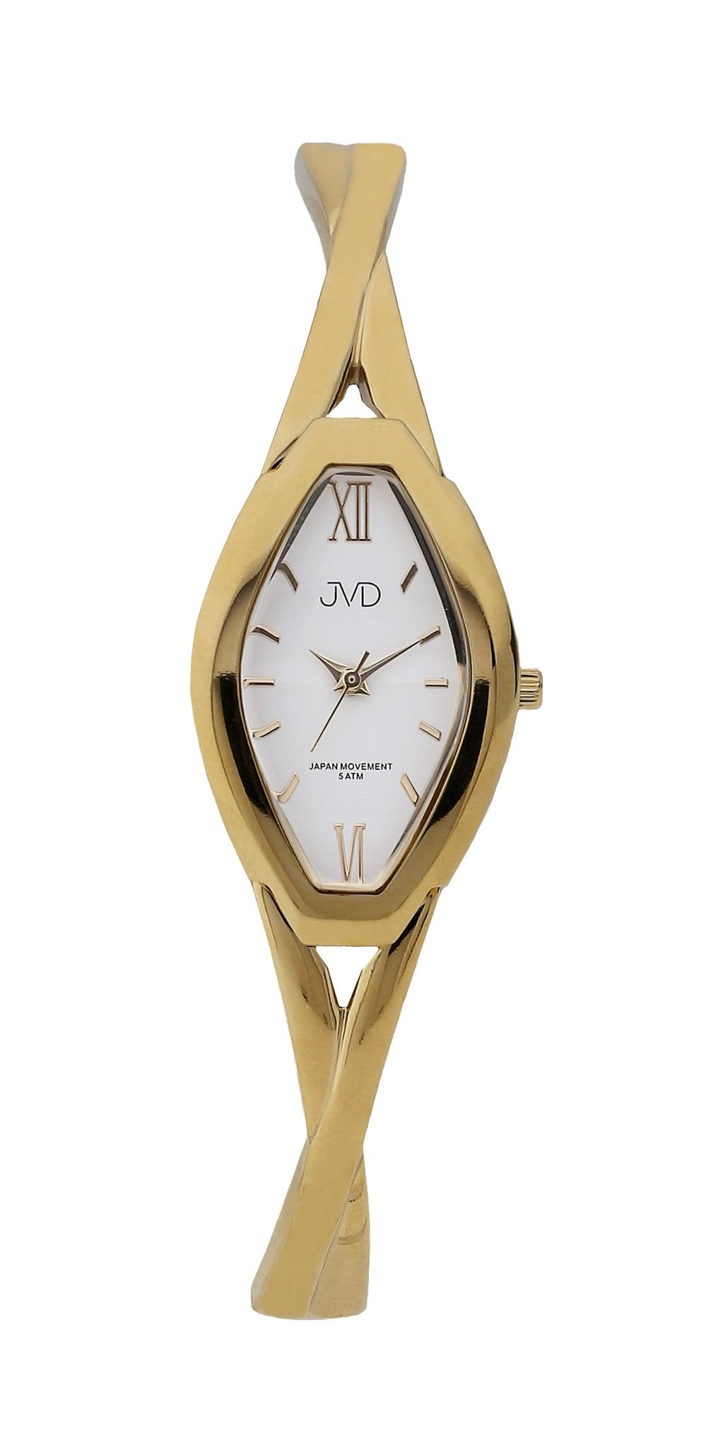 Dámské elegantní antialergické titanové hodinky JVD J5029.3 (POŠTOVNÉ ZDARMA!! - vodotěsnost 5ATM, zlacené)