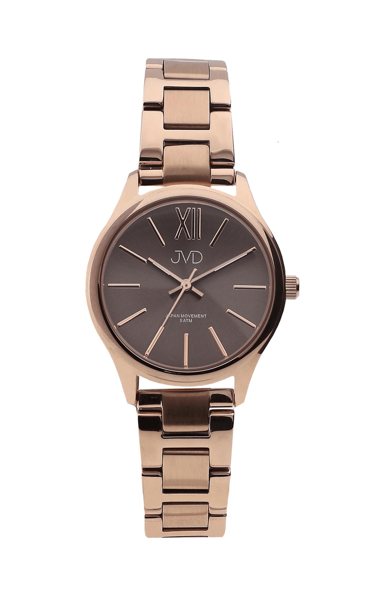 Dámské elegantní ocelové hodinky JVD J4152.3 (POŠTOVNÉ ZDARMA!! - vodotěsnost 5ATM, IPRose)