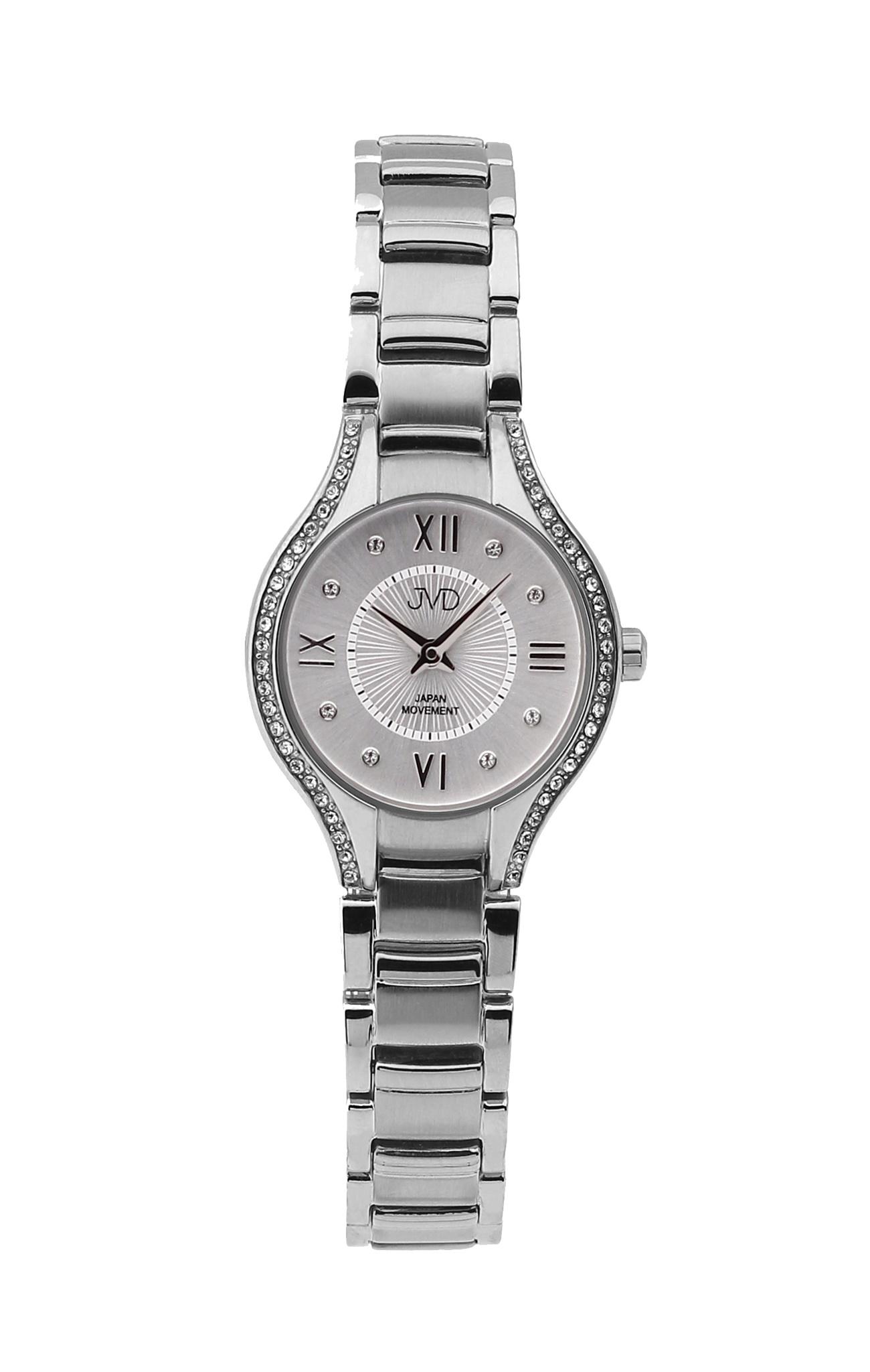 Dámské ocelové moderní hodinky JVD JC118.1 se zirkony (POŠTOVNÉ ZDARMA!! - vodotěsnost 5ATM)